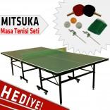 Mitsuka PLAY-G2 Yeşil Masa Tenis Masası - Mitsuka Masa Tenis Seti HEDİYE!
