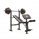 Adidas Ağırlık Sehpası 45 KG Ağırlık ile Beraber - ADBE-10349 Essential Bench