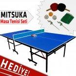 Mitsuka 501B Mavi Masa Tenis Masası - Mitsuka Masa Tenis Seti HEDİYE!